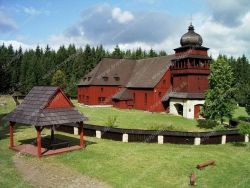 Dřevěný artikulární kostel ve Svatém Kříži Lazisko