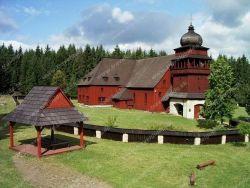 Wooden church in Svaty Kriz Lazisko