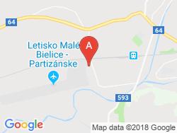 Termálne kúpele MALÉ BIELICE Mapa