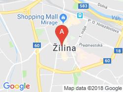 Hotel SLOVAKIA Mapa