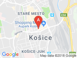 DoubleTree by HILTON Košice Mapa
