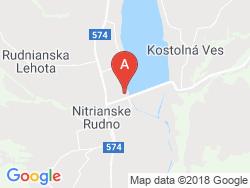Camping Nitrianske Rudno Mapa