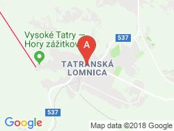 Hotel TATRY Mapa