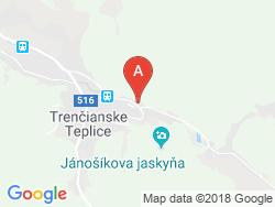 Hotel MOST SLÁVY Mapa