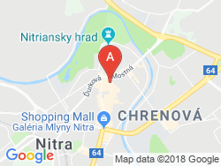 Hotel CENTRUM Nitra Mapa