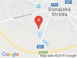 THERMALPARK Dunajská Streda - Penzión  Mapa