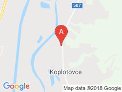 Kaštieľ KOPLOTOVCE Mapa