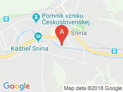 Ubytovanie v súkromí LEGEMZA Mapa