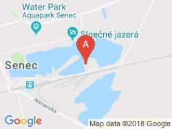 Chatová osada - bungalovy SCR Senec Mapa