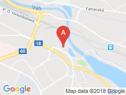 Villa NEČAS Mapa