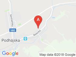 Ubytovanie v súkromí ADELA Mapa