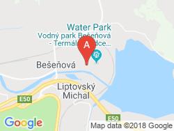 Vila Ajka Bešeňová Mapa