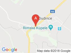 Dudinka Termálfürdő Térkép