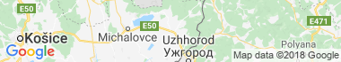 Sobrance Mapa