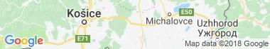 Sečovce Mapa