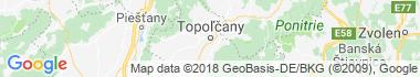 Topoľčany Mapa