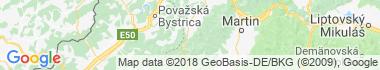 Rajecká Lesná Mapa