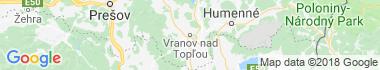 Vranov nad Topľou Mapa
