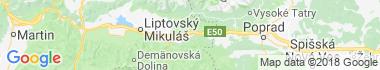 Východná Mapa
