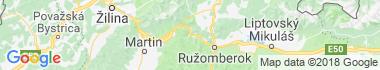 Ľubochňa Mapa