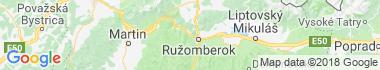 Ružomberok - Černová Mapa