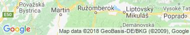 Ružomberok - Biely Potok Mapa