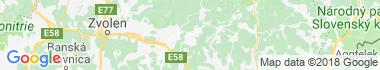 Detvianska Huta Mapa