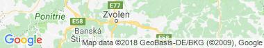 Zvolenská Slatina Mapa