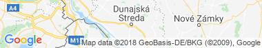 Dunajská Streda Mapa