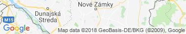 Nesvady Mapa