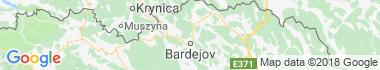 Bardejovské kúpele Mapa