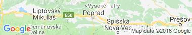 Poprad - Stráže pod Tatrami Mapa