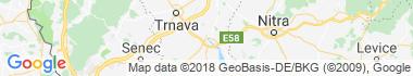 Sereď Mapa