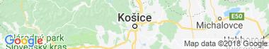 Zrúcaniny a hradby Košice Mapa