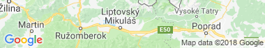 Liptovský Ondrej Mapa