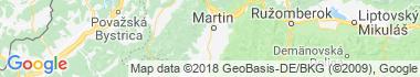 Košťany nad Turcom Mapa