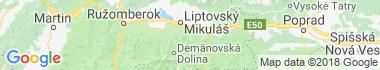 Jánska dolina Mapa