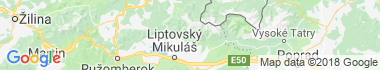 Žiarska dolina Mapa