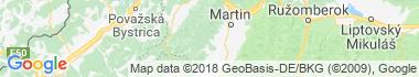 Valčianska dolina Mapa