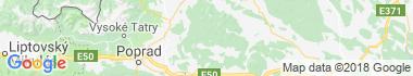 Levočské vrchy Mapa