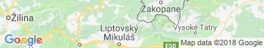 Západné Tatry Mapa