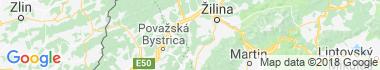 Horní Pováží Mapa