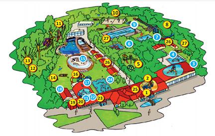 Mapa areálu kúpaliska vo Veľkom Mederi